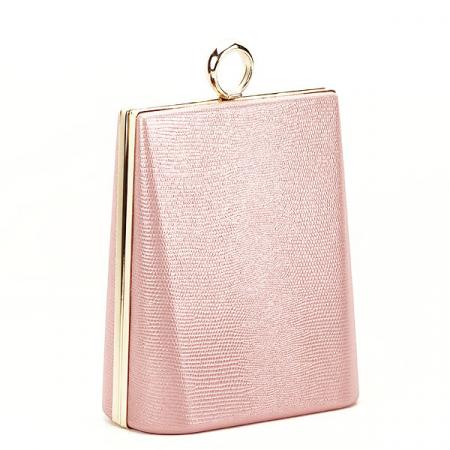Geanta clutch roz cu imprimeu Noemi [2]