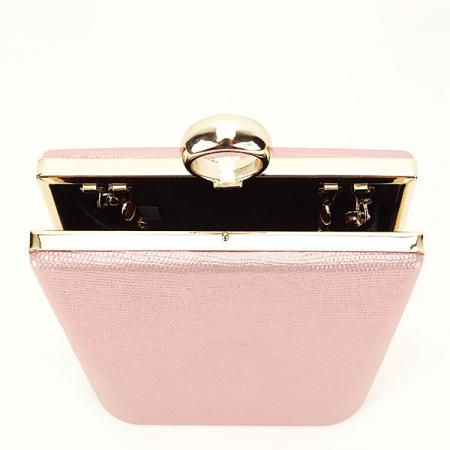 Geanta clutch roz cu imprimeu Noemi [4]