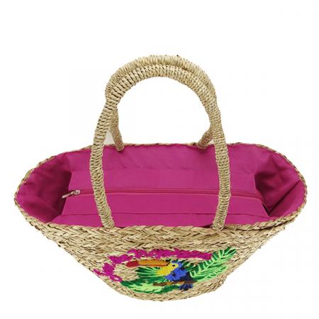 Geanta de plaja cu model tropical Jessy [3]