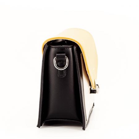 Geanta de talie mica negru/galben Vera [3]