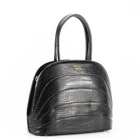 Geanta neagra eleganta cu imprimeu Briana2