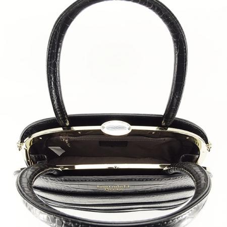 Geanta neagra eleganta cu imprimeu Briana4