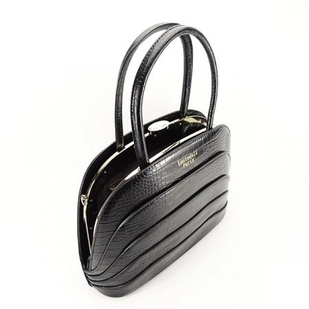 Geanta neagra eleganta cu imprimeu Briana3