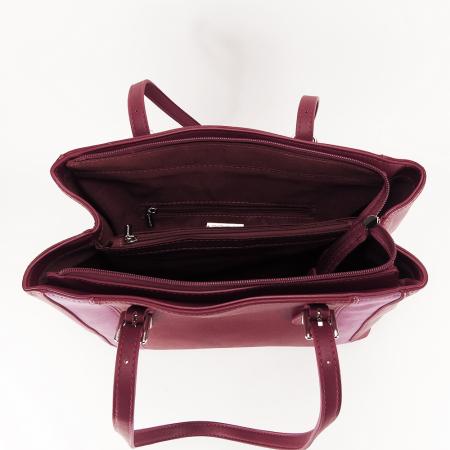 Geanta office rosu inchis Raven5