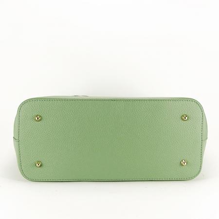 Geanta piele naturala verde Lisandra [5]