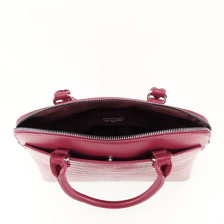 Geanta rosu inchis cu imprimeu Ana3