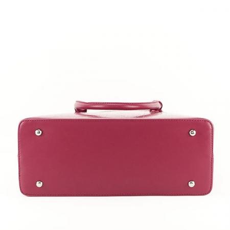Geanta rosu inchis cu imprimeu Ana4