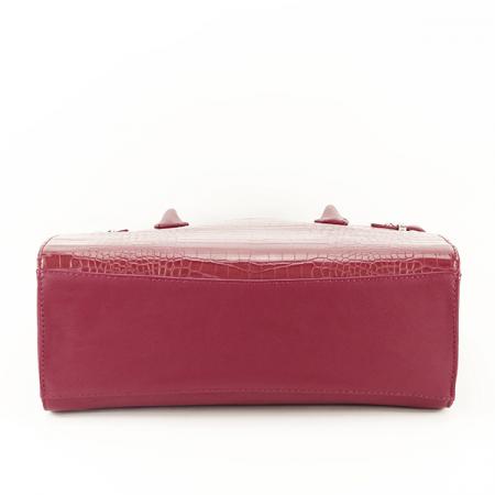 Geanta rosu inchis cu imprimeu Heidi5