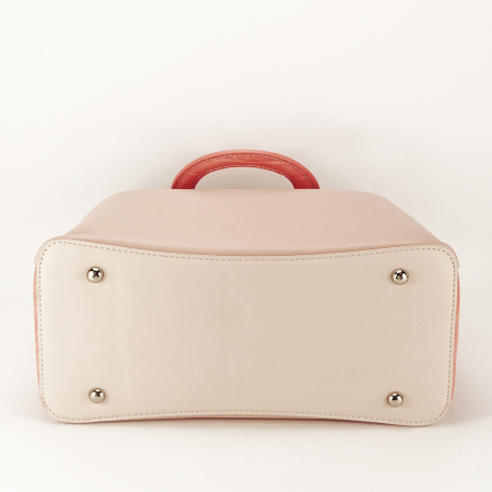 Geanta roz pal medie Alisa3