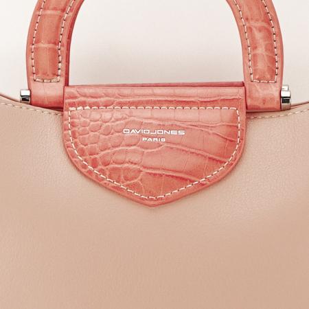 Geanta roz pal medie Alisa5