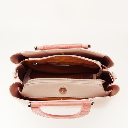Geanta roz pal medie Alisa4