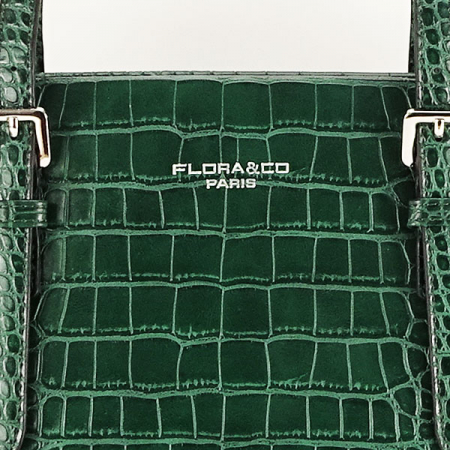 Geanta verde inchis cu imprimeu Kira [7]