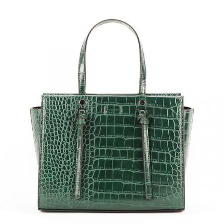 Geanta verde inchis cu imprimeu Lidia0