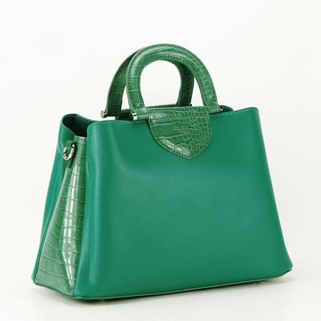 Geanta verde medie Alisa0