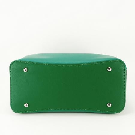 Geanta verde medie Alisa3