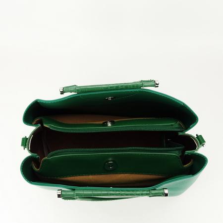 Geanta verde medie Alisa4
