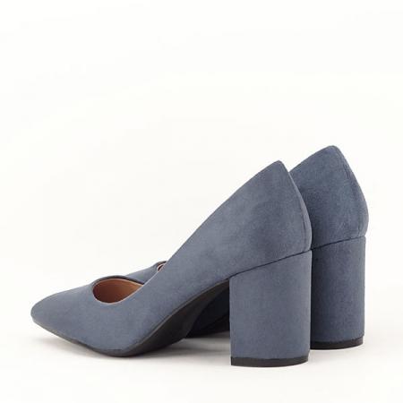 Pantofi albastri cu toc gros Adelina3