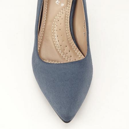 Pantofi albastri cu toc gros Adelina6