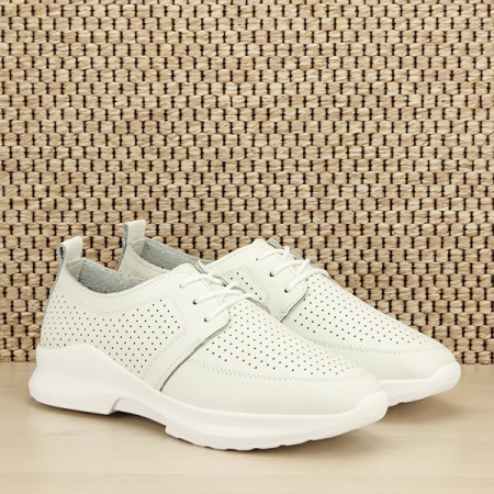Pantofi albi din piele naturala Angela [2]