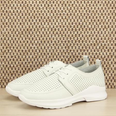 Pantofi albi din piele naturala Angela [1]