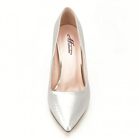 Pantofi argintii cu toc Irina [4]