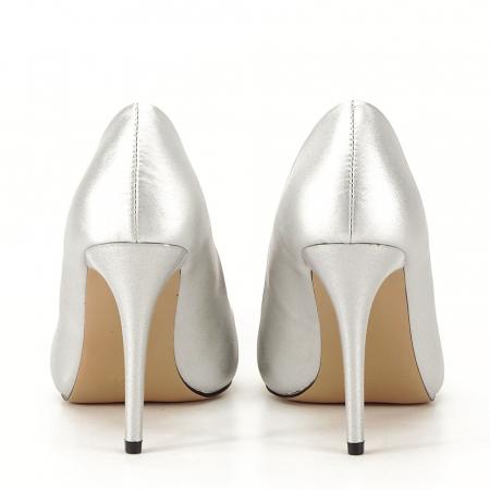 Pantofi argintii cu toc Irina [3]