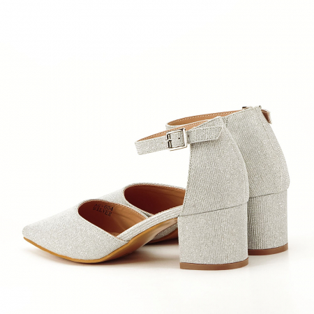 Pantofi argintii decupati lateral Casandra [7]
