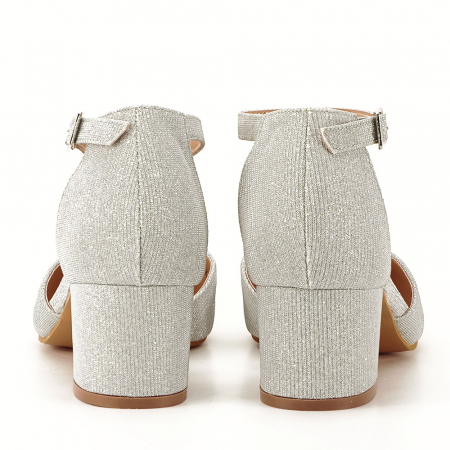 Pantofi argintii decupati lateral Casandra [2]