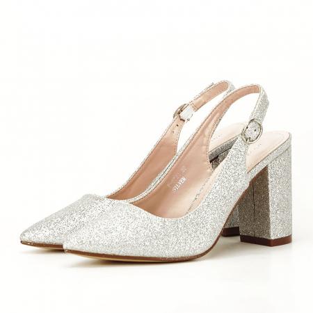 Pantofi argintii decupati Pamela [1]