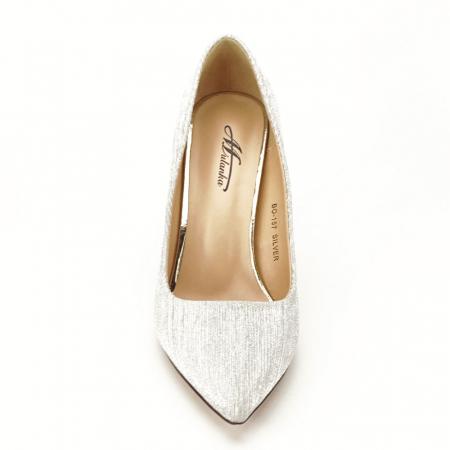 Pantofi argintii eleganti Nina5