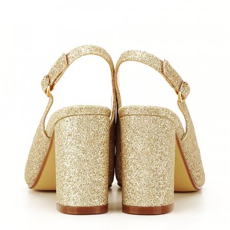 Pantofi aurii decupati Pamela4