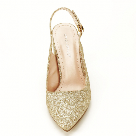 Pantofi aurii decupati Pamela3