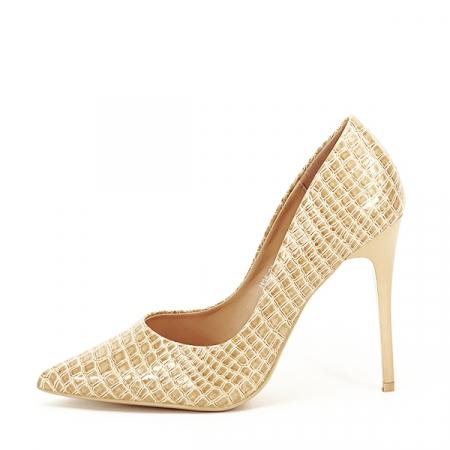 Pantofi bej cu imprimeu Alice [0]