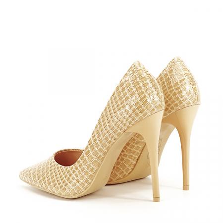 Pantofi bej cu imprimeu Alice [3]