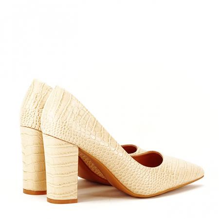 Pantofi bej cu imprimeu Dalma7