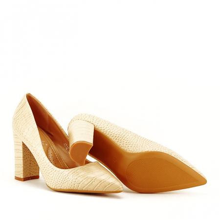 Pantofi bej cu imprimeu Dalma4