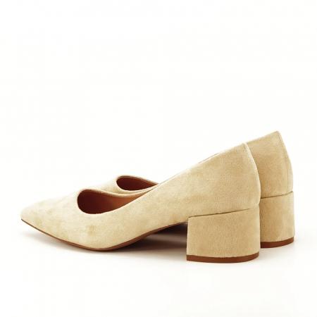 Pantofi bej cu toc mic Carla [5]