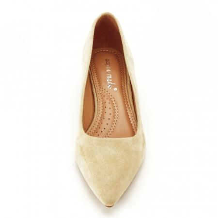 Pantofi bej cu toc mic Carla [6]