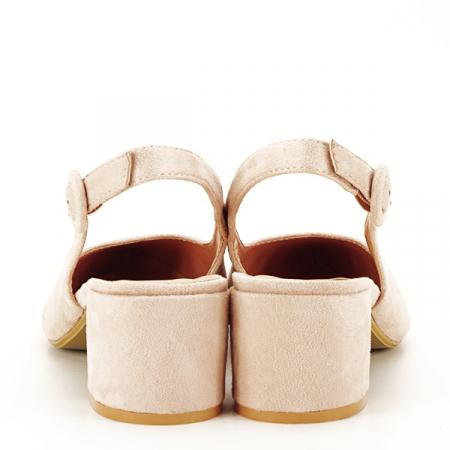 Pantofi bej cu toc mic Simina [5]