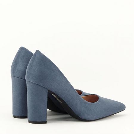 Pantofi cu toc albastru petrol Britney4