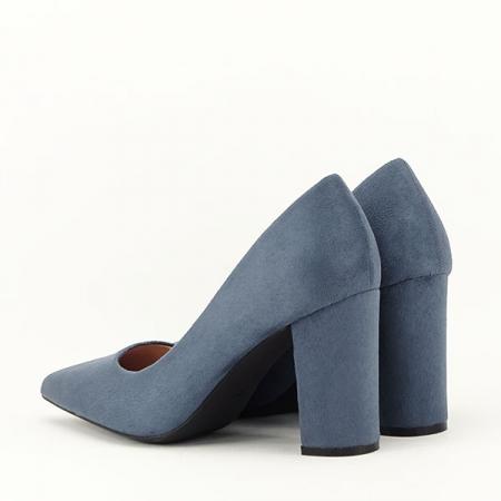 Pantofi cu toc albastru petrol Britney3