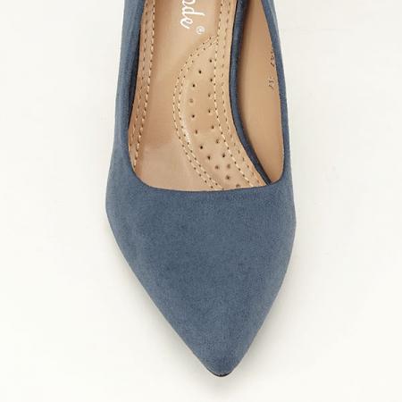 Pantofi cu toc albastru petrol Britney6