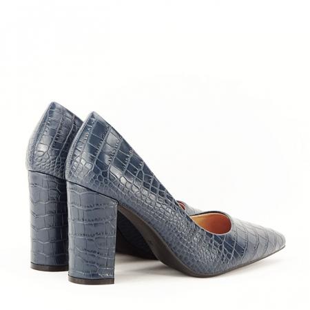 Pantofi bleumarin cu imprimeu Dalma7