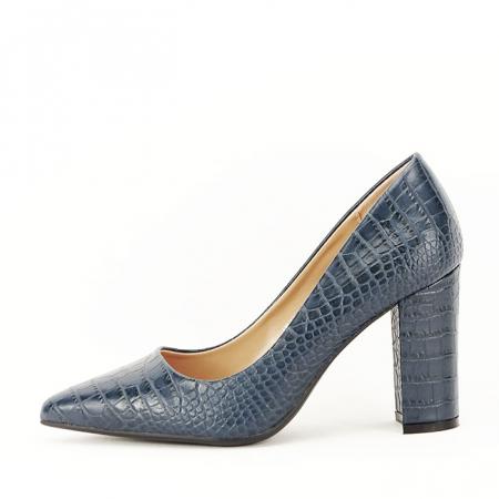 Pantofi bleumarin cu imprimeu Dalma0