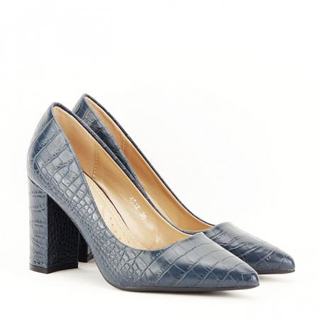 Pantofi bleumarin cu imprimeu Dalma3