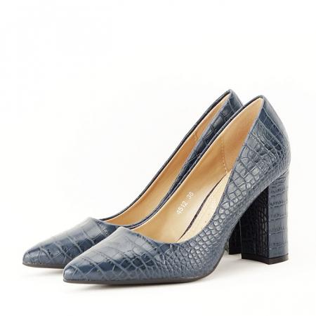 Pantofi bleumarin cu imprimeu Dalma1