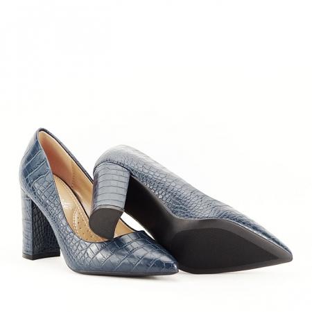 Pantofi bleumarin cu imprimeu Dalma4