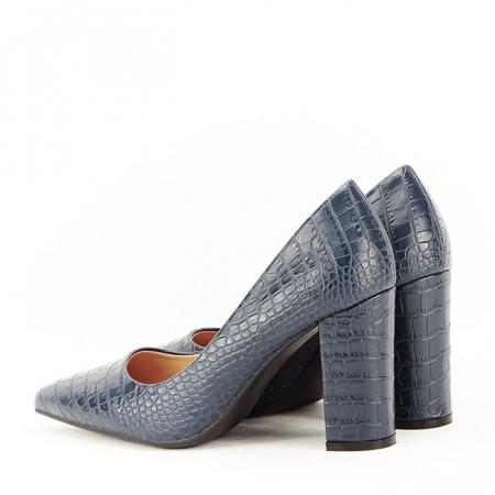 Pantofi bleumarin cu imprimeu Dalma5