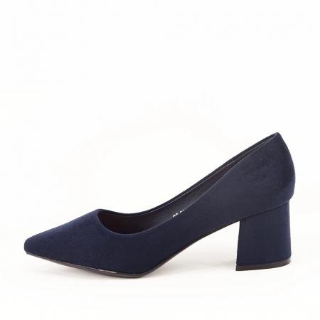 Pantofi bleumarin cu toc gros Boema0