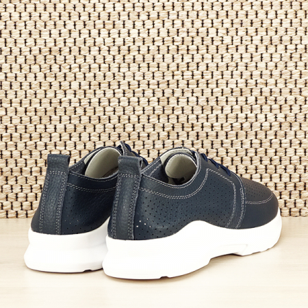 Pantofi piele naturala bleumarin Angela [4]